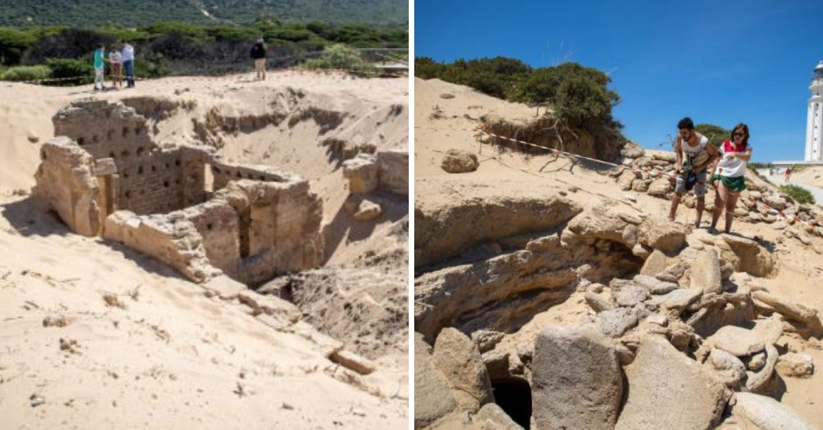 2,000-Year-Old Ancient Roman Baths Emerge From The Sands Of Spain