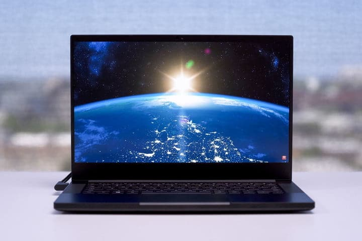 The Razer Blade 14, showing off some impressive visuals with its 1440p screen.