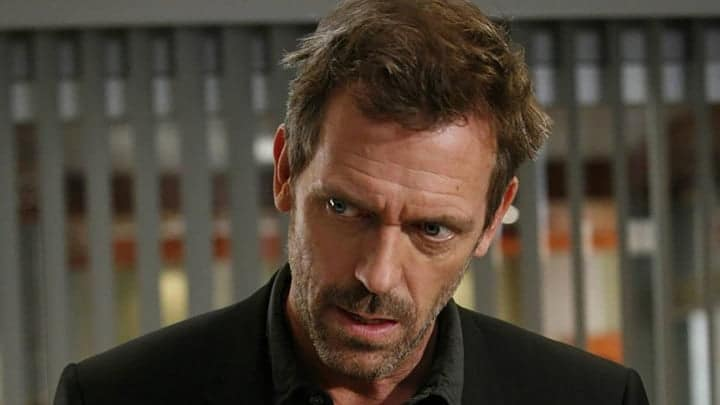 Hugh Laurie as Dr. Gregory House on House.