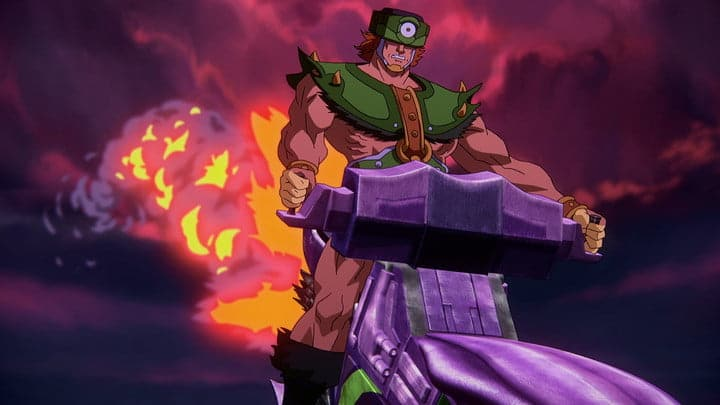 Tri-Klops riding a ship in Masters of the Universe: Revelation.