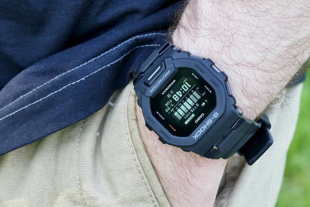 Casio G-Shock GBD-200 on the wrist, with hand in a pocket.