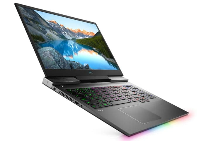 A Dell G7 17-inch gaming laptop.