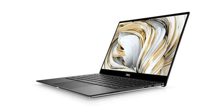 A Dell XPS 13 on a white background.