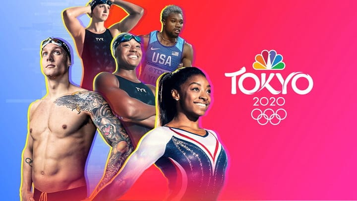 A promotional banner for the 2020 Tokyo Games.