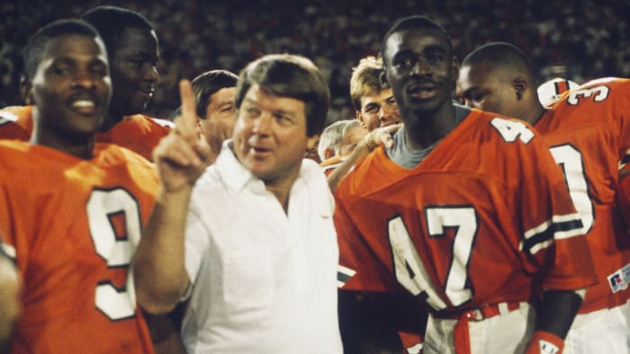 University of Miami coach Jimmy Johnson has enjoyed great success with the Dallas Cowboys in the NFL.