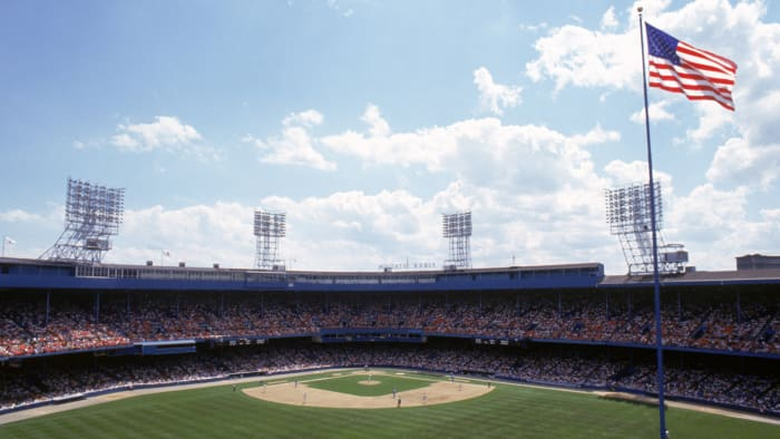 Tiger Stadium had many quirks including a flag pole in the center field just yards from the outfield wall.