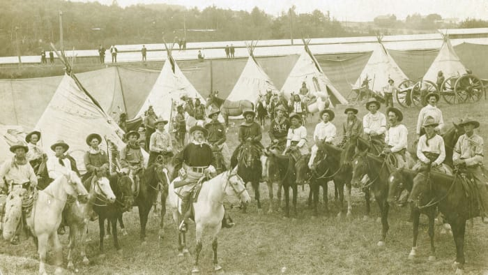 101 Ranch & Buffalo Bill Wild West Show, c. 1900s.