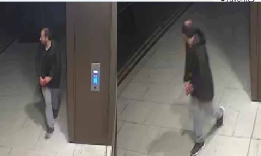 Images from the Met police of a man they wish to speak to