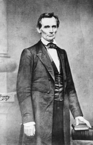 Abraham Lincoln, portrait of Cooper Union by Mathew Brady