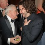 Martin Scorsese and Edgar Wright at the closing party for The Irishman, 2019.