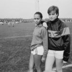 Hope Powell and Jane Bartley with Millwall Lionesses in 1984. A few years earlier they had been kicked out their school team.