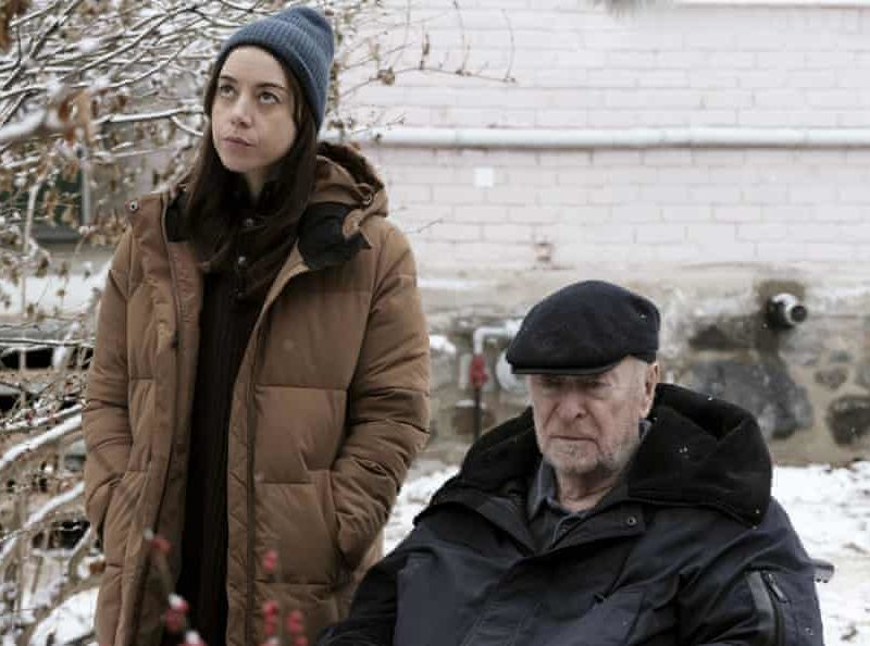 A swansong? Caine with Aubrey Plaza in Best Sellers.